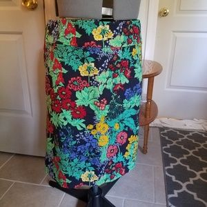 Talbots wildflower floral pencil skirt, 12